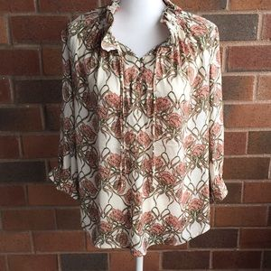 Banana Republic printed pullover blouse NWT